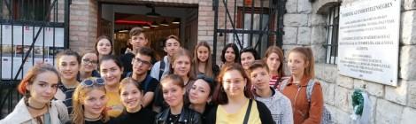 Budapesti tapasztalatcserén a sepsiszentgyörgyi drámatagozat diákjai