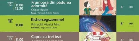 A Kolozsvári Puck Bábszínház januári programja