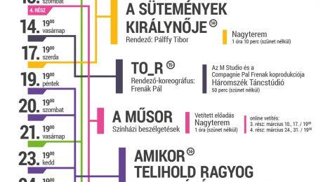 A Tamási Áron Színház márciusi játékrendje