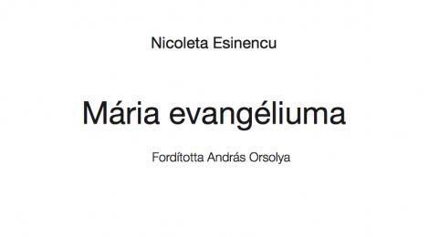 Nicoleta Esinencu: Mária evangéliuma