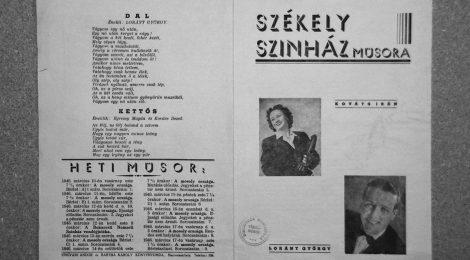 Ungvári Zrínyi Ildikó: A mosoly országának pillanata. Hatalom és intézményes modellek a Székely Színház alakulásakor